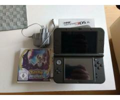 New Nintendo 3DS XL Metallic Black + Pokemon Mond