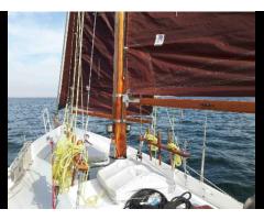 Schöne Segelyacht (Segelboot, Segelschiff aus Stahl, Stahlsc - Bild 3/3