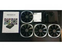 NZXT Aer RGB 140 & HUE+ – 4 x 140mm RGB LED Fan