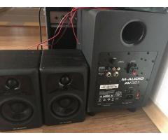 M-Audio AV 32.1 Boxen Subwoofer Audio Lautsprecher Wie Neu