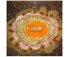 Belegte Platten Wurst.Käse.Ei.Obst.Gemüseplatten