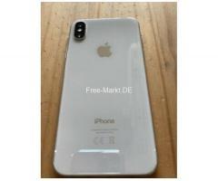 Iphone X 256 GB in silber