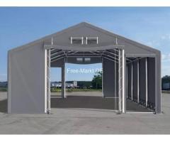 Zelthalle Lagerzelt Lager 8x16x3 ganzjährig Halle Montage