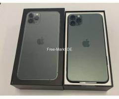 Apple iPhone 11 Pro 64GB = $500,iPhone 11 Pro Max 64GB  $550