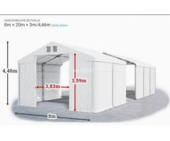 Ganzjähriges Lagerzelt Lagerhalle Polar 8x20 Garage PVC