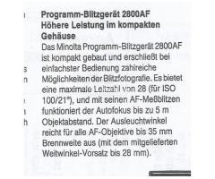 Minolta Blitzgerät 2800 AF
