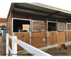 Aussenbox, Pferdestall, Pferdebox, Offenstall, Weidehütte