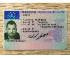 Holen Sie sich Ihren registrierten Führerschein...