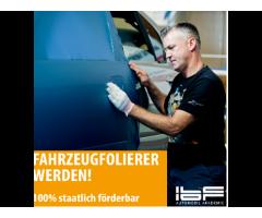 Jetzt KfZ-Fahrzeugfolierung lernen - 100% staatliche Förderu