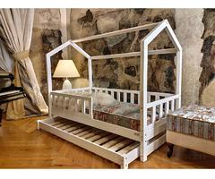 Hausbett Bella mit einem zweiten Schlaf 200 x 80 cm
