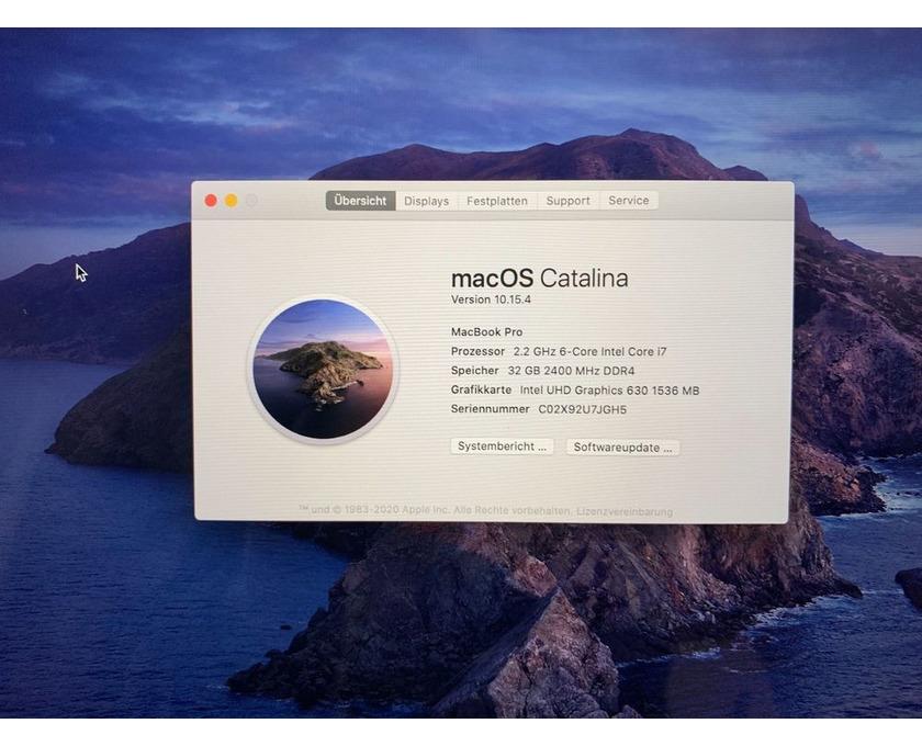 """MacBook Pro 15 """", i7, 32 GB, 4 GB VRAM, 512 GB SSD - 4/4"""