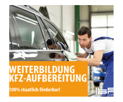 Werde jetzt Fahrzeugpfleger (m/w) - 100% staatlich geförder