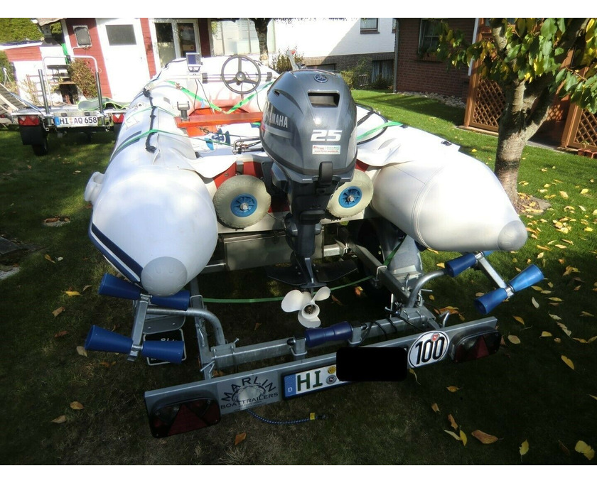 Schlauchboot Suzumar 390 Alu, Yamaha F25 GES 25 PS - 2/4