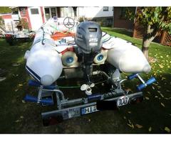 Schlauchboot Suzumar 390 Alu, Yamaha F25 GES 25 PS