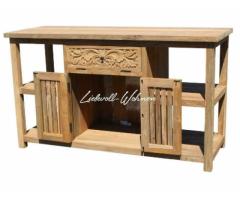 Waschtisch Unterschrank Holz Teak Teakholz Badmöbel Kommode
