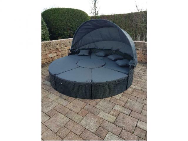 Sonneninsel schwarz Abverkauf 230cm - 1/2