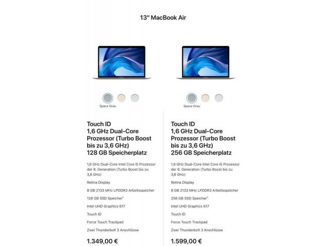 Verkaufe Apple MacBook Air 2018 - 1/1
