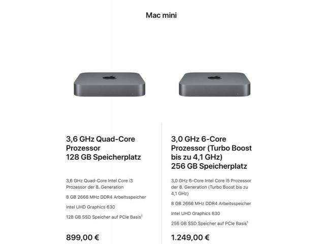 Verkaufe Apple Mac mini 2018 - 1/1