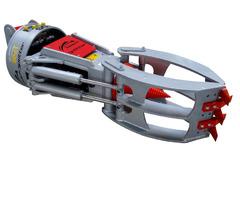 Kegelspalter Black Splitter SG3 Holzspalter Greifer Erdbohre