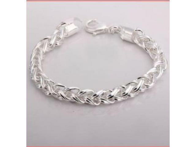 Silber-SET TWIST Halskette und Armband wunderschön NEU - 2/3