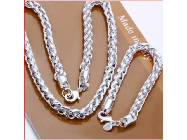 Silber-SET TWIST Halskette und Armband wunderschön NEU - 3/3