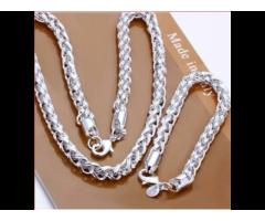 Silber-SET TWIST Halskette und Armband wunderschön NEU - Bild 3/3