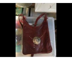 Tasche Leder aus Marokko rot