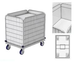 Federbodenwagen, Wäschewagen für Wäschelogistik