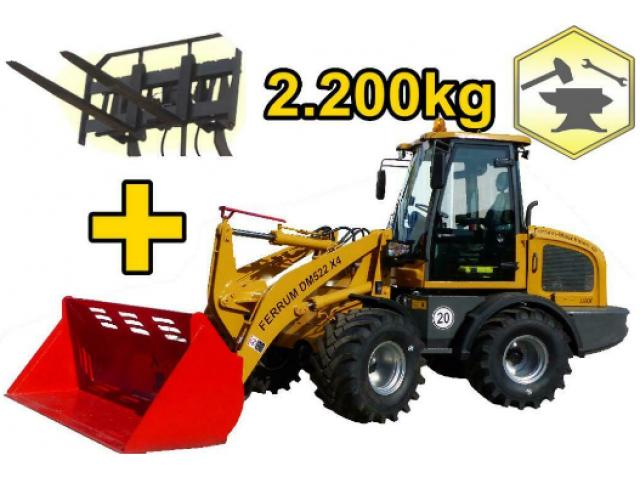 Hoflader Radlader 2200kg FERRUM DM522x4 - 1/2