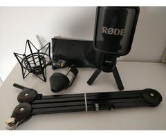 Rode NT-USB + PSA1 Gelenkarmstativ + PSM1 Spinne + Kabel