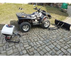 ATV Quad 4x4 + Schneeschiebeschild + Seilwinde + Anhängerkup