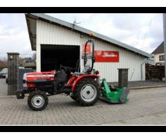 Field Trac 180 D Allrad Kleintraktor + Schlegelmulcher 125 c