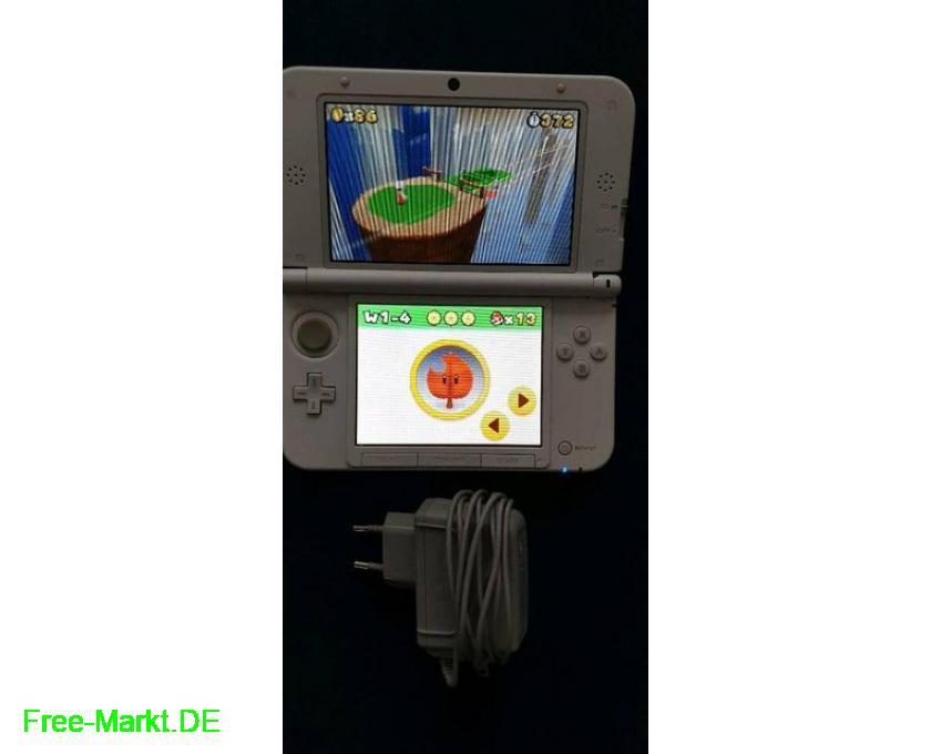 Nintendo 3DS xl weiß+3 3D-Spiele 3DS+Ladekabel - 1/4