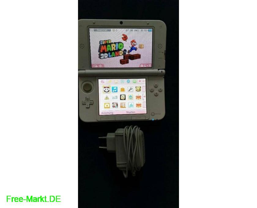 Nintendo 3DS xl weiß+3 3D-Spiele 3DS+Ladekabel - 2/4