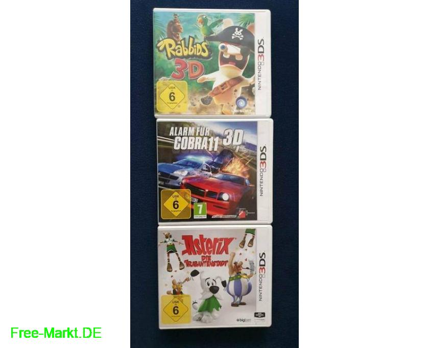 Nintendo 3DS xl weiß+3 3D-Spiele 3DS+Ladekabel - 4/4
